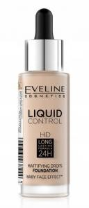 Eveline podkład Liquid Control HD 010 Light Beige 32ml