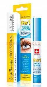 EVELINE Total Action 8w1 Skoncentrowane Serum Do Rzęs 10ml