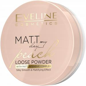 EVELINE Matt My Day Peach Puder Sypki Matujący 6g