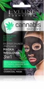 Eveline Cannabis Skin Care 3w1 Maska węglowa 7ml
