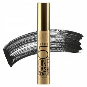 AVON True 5 in ONE LASH GENIUS mascara tusz 10ml Blackest Black